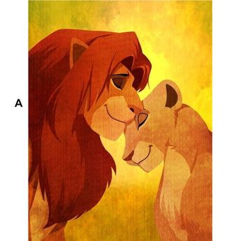 Cartoon The Lion King Full Square/Round Drill Diamond Embroidery 5d Diamond Painting Cross Stitch Fashion Diamond Mosaic Pictures
