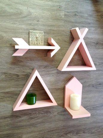 Shelf Set of 4// Nursery Floating Shelf Set // by SparrowandScout
