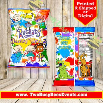Rugrats African American Theme 5x6 Foot Table Backdrop Bann