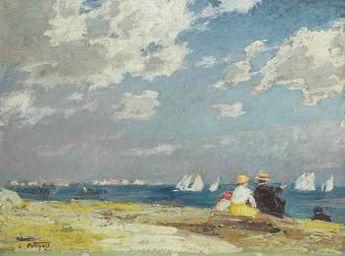 Sailboats by Edward Henry Potthast   Blouin Art Sales Index