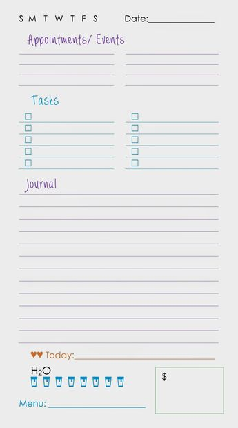 Printable Daily Planner Page For Moms