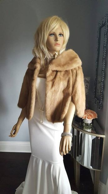 13026b090d4ce Luxury Vintage Mink Fur Stole Cape Bridal Wrap Shawl - EMB