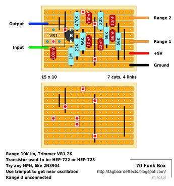 Guitar FX Layouts: Wampler Plexi-Drive