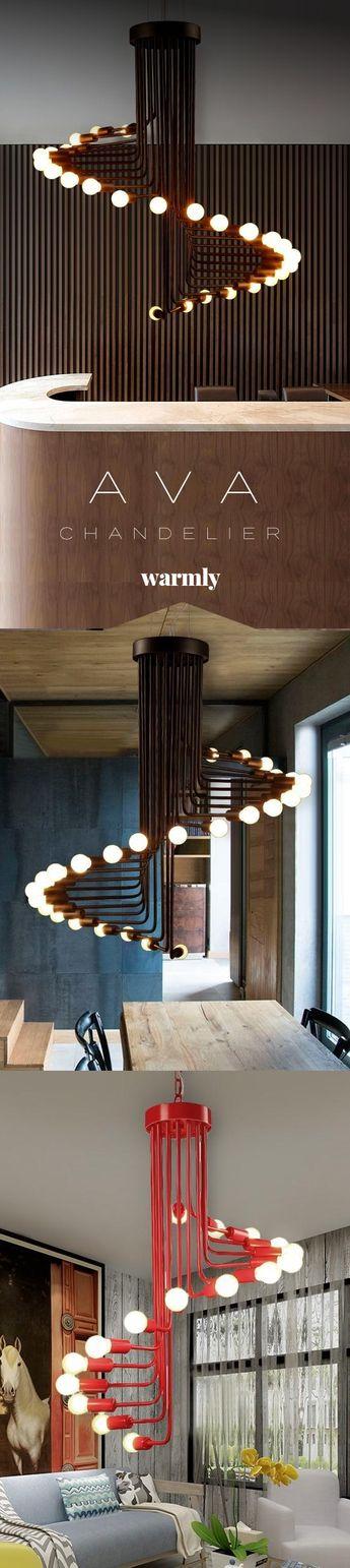 Ava - Modern Nordic Spiral Chandelier