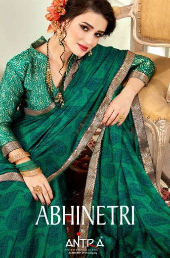 2a8538333 ANTRA ABHINETRI DESIGNER PRINTED FANCY FABRIC SAREES COLLECTION AT WHOLESALE  RATE