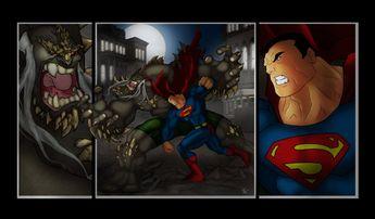 superman vs doomsday | Superman VS Doomsday by Helmsberg