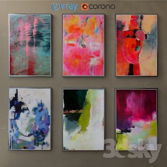 The collection of paintings, abstract, part 2