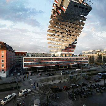Photographer Víctor Enrich Imagines the Same Building in Munich Configured in 88 Ways