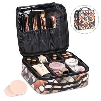 Haitral Portable Travel Makeup Bag Makeup Train Case Mini Cosmetic Organizer Bag Perfect For Girl