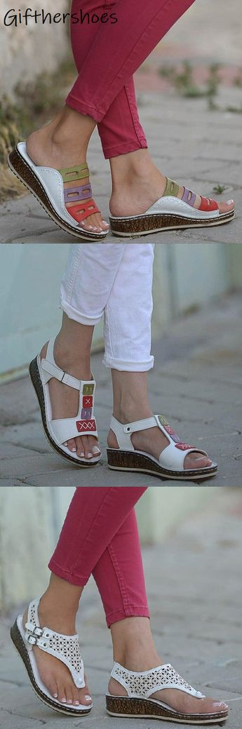 SHOP NOW>>20+ Comfy Wedge Sandals Shoes Picks for Your Daily Outfits.Must Have One!Buy 2 Get 8% OFF Code : GIFT8!
