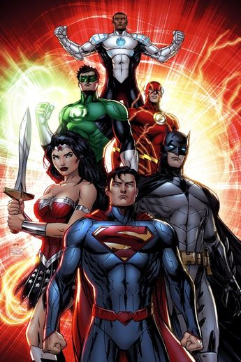 thewayilikecomix:  fyeahlilbitoeverything:  Justice League by Jeremy Roberts.  A cool Cyborg indeed.