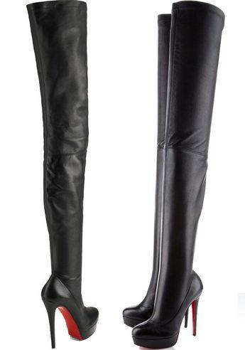 "Christian Louboutin ""Gazolina"" Over-the-Knee Boots"