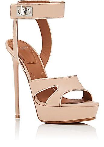 7f8713443bad Givenchy Shark Line Leather Platform Sandals - Heels - 505623330