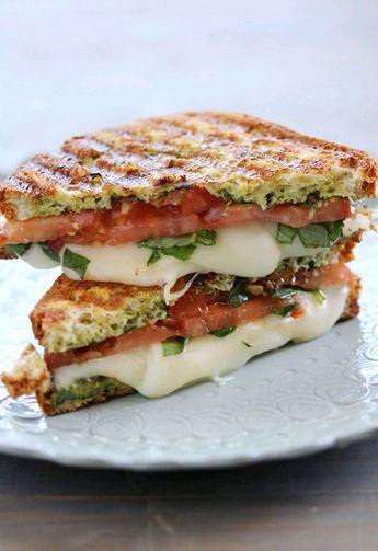 Caprese Panini (Mozzarella, Tomatoes and Basil)