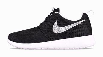 86cb170e Bandana Fever Bling Rhinestone Custom Black Nike Roshe Shoes