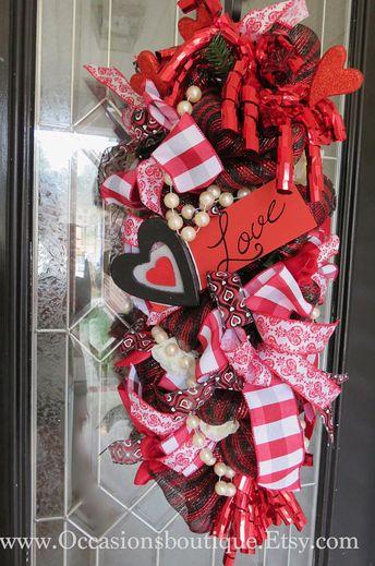 Valentine S Day Wreath Rustic Valentine Wreath Valentine