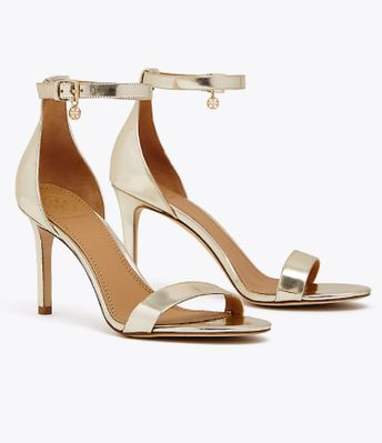 Ellie metallic ankle-strap sandal
