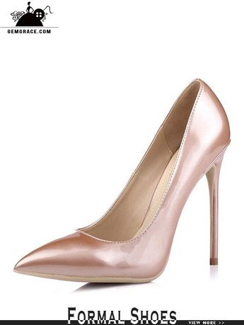 2f9daee17101 Gorgeous Goldish Pink Bridal High Heels In Pu Leather 2018  MSL-7804 -  GemGrace