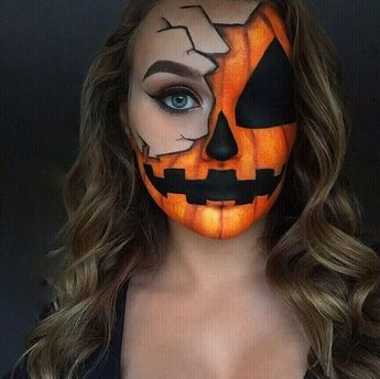 Easy Halloween Makeup Ideas You'll Love - Pumpkin Face