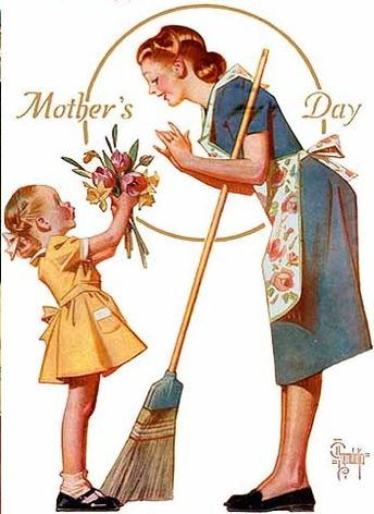 A lovely Mother's Day image by Joseph Christian Leyendecker (1874 – 1951, American).