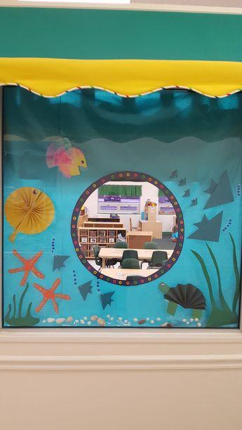 My classroom window display for under the sea/Summer