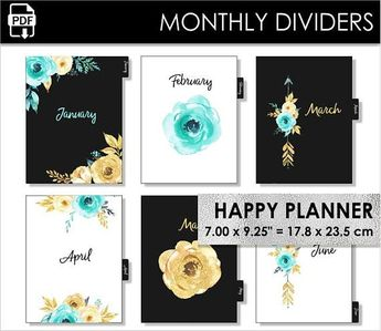 monthly letter size planner dividers happy planner big cir