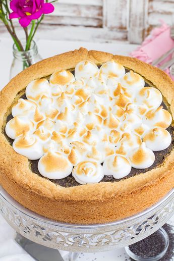 Mohn Marzipan Kuchen Stuck