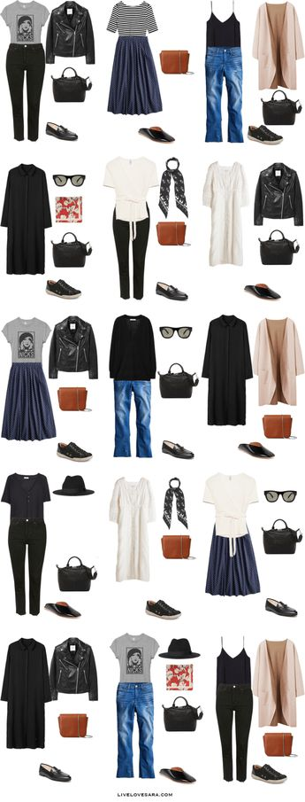 Packing Light: 12 days in France in Early Fall. What to wear. Outfit Options. Fall Travel Capsule Wardrobe 2018