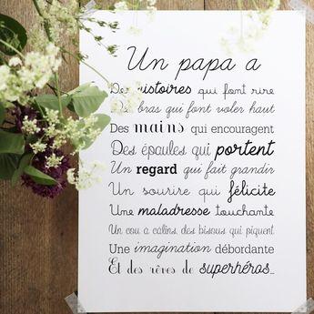 #Poème pour son #papa