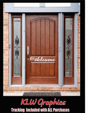 WELCOME FRONT DOOR Vinyl Decals Stickers 3M Home Family Decor car truck window #3M #Country