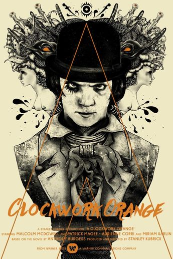 We're Transfixed by This Striking (and Incredibly NSFW) Clockwork Orange Poster