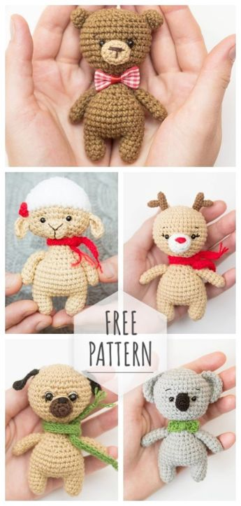 Knitted toys according to one scheme