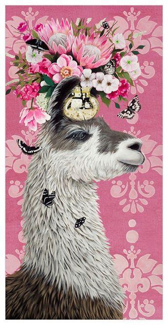 Proud Pink Llama Wall Art