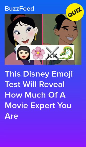 Can You Guess The Disney Character Based On The Emojis?