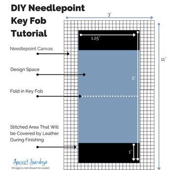DIY Needlepoint Key Fob