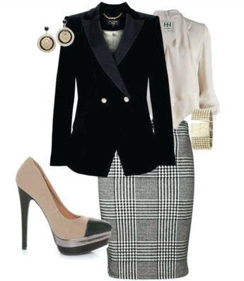 Eine klassische Kollektion von karierten Outfit-Ideen für Frauen