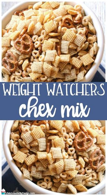 Weight Watchers Chex Mix is a healthier version of chex mix. This recipe is the perfect Weight Watchers snack recipe! Low in Freestyle SmartPoints. via @sweeterbydesign