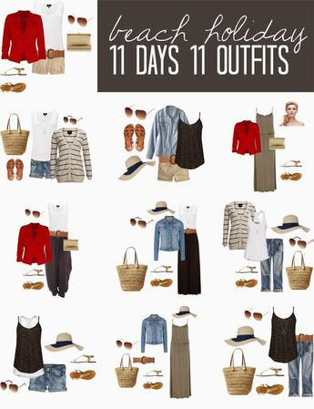 11 DAYS 11 OUTFITS FOR A BEACH HOLIDAY
