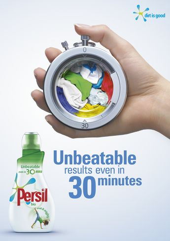 stopwatch Persil laundry detergent