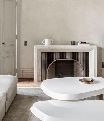 "STUDIODISTIL on Instagram: ""Bespoke fireplace by @caprinipellerinarchitectes ——— Photography by @cafeine"""