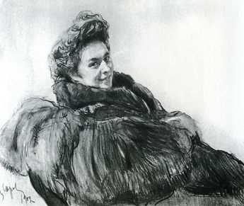 Portrait of Vera Eiloti (Valentin Serov - 1902)  She seems like she was a fascinating person. Also, voluptuous, sensuous lines of the fur coat.