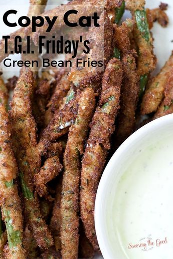 Copy Cat T.G.I. Friday's Green Bean Fries recipes. With a video tutorial! found at savoringthegood.com