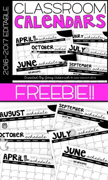 Monthly Calendar 2018-2019: EDITABLE AND FREE