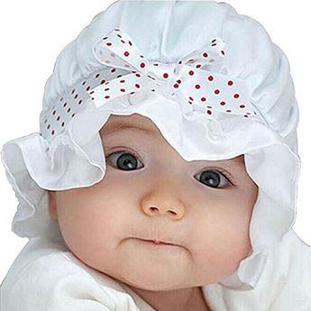 Malloom® nouveau-né fille points goy soleil d'été de polka beanie chapeau de chapeau 2-12 mois (Blanc): Contenu du coffret: 1X nouveau-né…