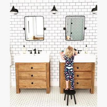 Mason Reclaimed Wood Single Sink Vanity - Wax Pine Finish