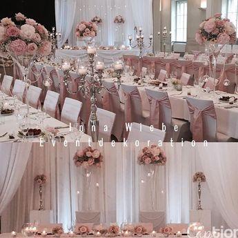 Hochzeitsdekoration by Inna Wiebe - Eventdekoration www.innawiebe.com #hochzeit #blumen #blumendekoration #rosa #wedding #deko #dekoration…