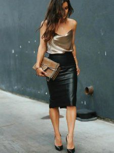 50 Leather Skirt Outfit Ideas For Every Fashionista