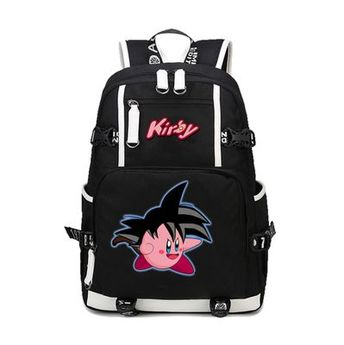 Kirby Son Goku Backpack Schoolbag For Kids Back to School Bags Shoulder  Daypack 2a96c6269ff70