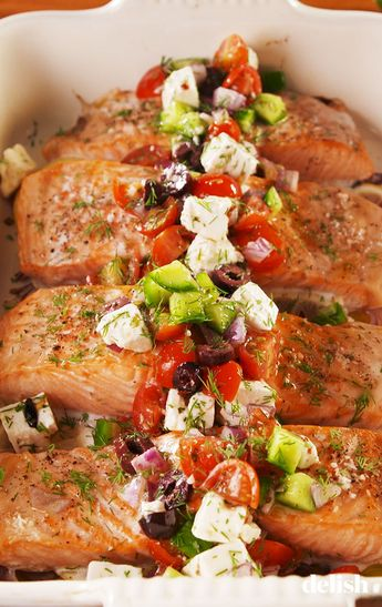 This Greek Salmon Is Definitely Instagram-Worthy Delish