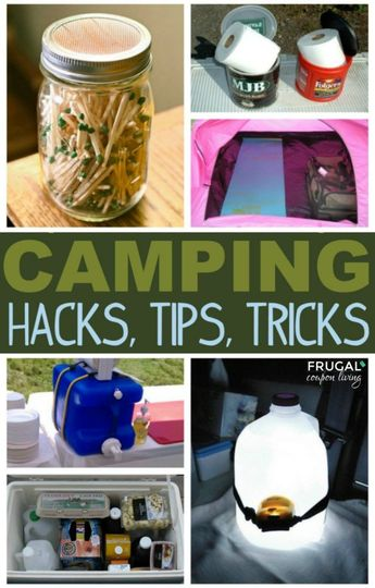 Camping Hacks, Tips and Tricks. Creative camping ideas to simplify your memorable family outdoor trip. #FrugalCouponLiving #camping #campingtips #campinghacks #campingideas #outdoor #outdoorliving #summer #springbreak #travel #hacks #tips #tipsandtricks